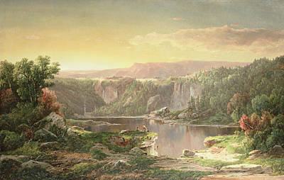 Mountain Painting - Mountain Lake Near Piedmont by William Sonntag