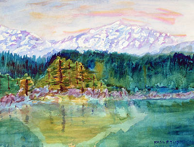 Painting - Mountain Lake by Paul Thompson