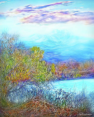 Digital Art - Mountain Lake Perceptions by Joel Bruce Wallach