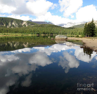 Photograph - Mountain Lake Reflections by Steven Parker