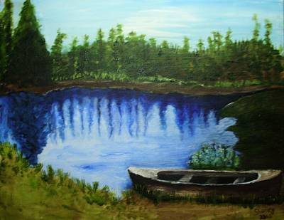 Painting - Mountain Lake by Shelley Bain