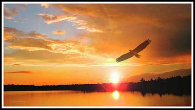 Photograph - Mountain Lake Sunset by A Gurmankin