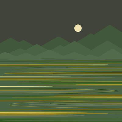 Digital Art - Mountain Lake by Val Arie