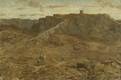 Painting - Mountain Landscape In Egypt by Marius Bauer