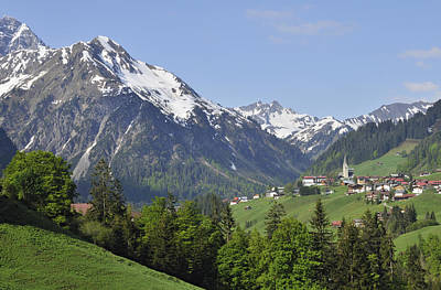 Vorarlberg Photograph - Mountain Landscape In The Austrian Alps by Matthias Hauser