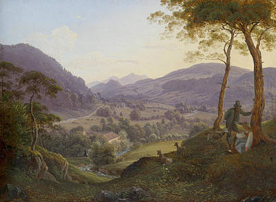 Painting - Mountain Landscape Near Salzburg by Franz Ludwig Catel
