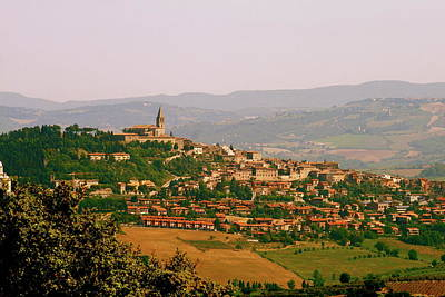 Photograph - Panorama Of Todi Italy Mounains by Maggie Vlazny