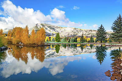 Photograph - Mountain Landscape Reflections - Aspen Colorado Snowmass Village by Gregory Ballos