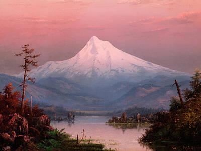 Yosemite Valley Painting - Mountain Landscape by William Samuel Parrott