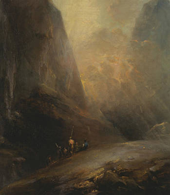Painting - Mountain Landscape With Banditti by Elias Martin