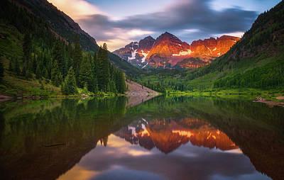 Mountain Light Sunrise Art Print