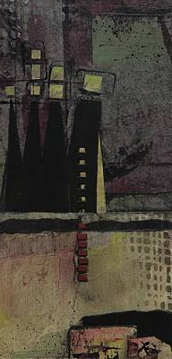 Rectangles Mixed Media - Mountain Lights by Laura Lein-Svencner