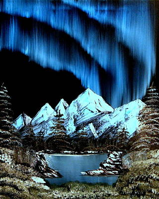 Wet On Wet Painting - Mountain Lights by Ryan Heath