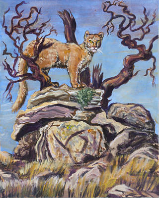 Painting - Mountain Lion In The Cedar Breaks by Dawn Senior-Trask