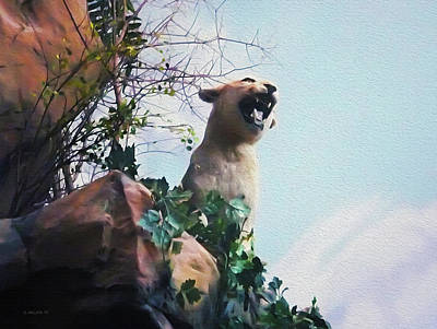 Photograph - Mountain Lion - Paint Effect by Brian Wallace