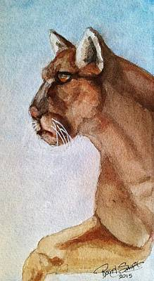 Painting - Mountain Lion by Rand Swift