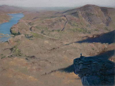 Landscape Painting - Mountain Lookout by Christopher Reid