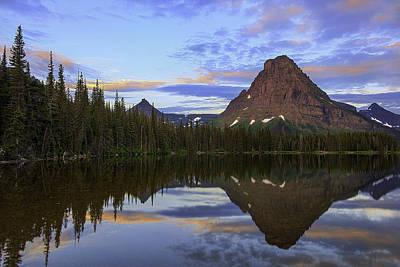 Photograph - Two Medicine Lake Sunrise -  Glacier National Park by Expressive Landscapes Fine Art Photography by Thom
