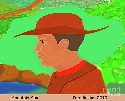Painting - Mountain Man by Fred Jinkins