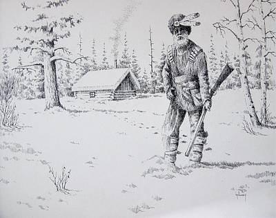 Mountain Man Art Print by Kevin Heaney