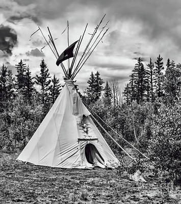 Photograph - Mountain Man Tepee by Steven Parker