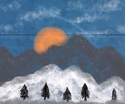Painting - Mountain by Mark Taylor