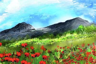 Digital Art - Mountain Meadow 2 by David Lane