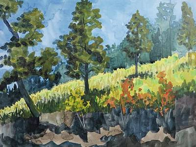 Bethany Lee Painting - Mountain Meadow by Bethany Lee