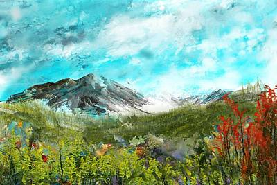 Digital Art - Mountain Meadow by David Lane