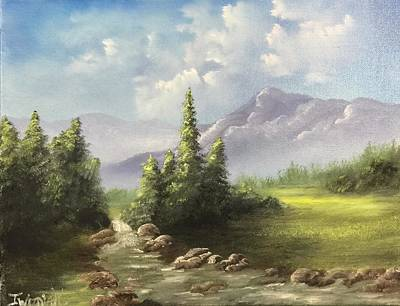 Painting - Mountain Meadow by Justin Wozniak