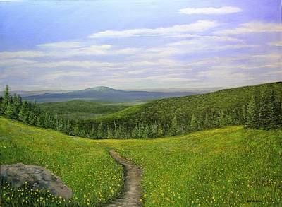 Painting - Mountain Meadow by Ken Ahlering