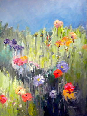 Painting - Mountain Meadow by Sally Bullers
