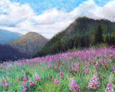 Pastel - Mountain Meadow by Susan Jenkins