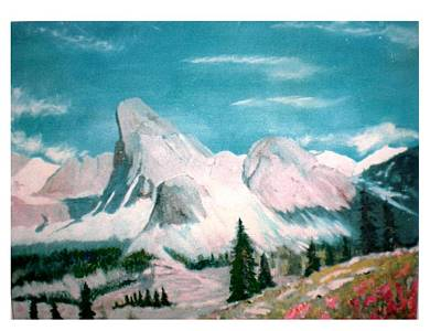 Mountain Meadows Art Print by Hal Newhouser