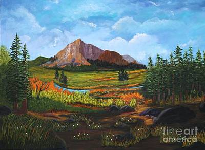 Mountain Meadows Art Print by Myrna Walsh