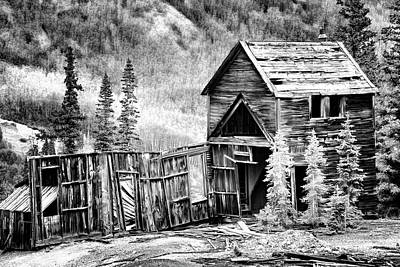 Photograph - Mountain Mine Bw by Lana Trussell