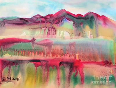 Mountain Mirage Art Print by Teresa Ascone