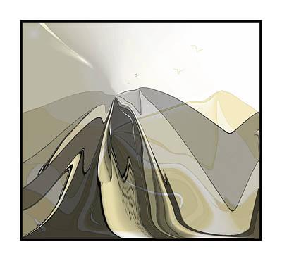 Digital Art - Mountain Morning 2 by Iris Gelbart