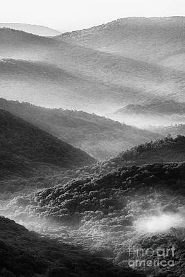 Photograph - Mountain Morning Black And White by Thomas R Fletcher