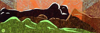 Wall Art - Mixed Media - Mountain Morning  by CJ Peltz