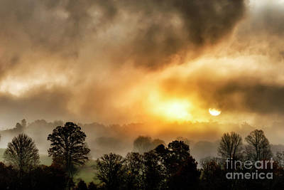 Photograph - Mountain Morning Sunrise And Fog by Thomas R Fletcher
