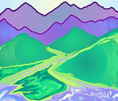 Digital Art - Mountain Murmurs by Julia Woodman