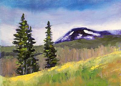 Painting - Mountain by Nancy Merkle