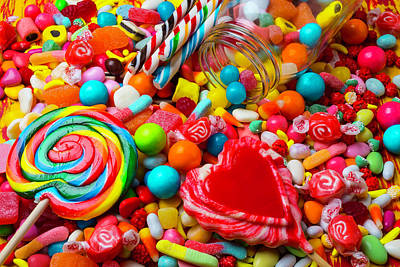Candy Jar Photograph - Mountain Of Candy by Garry Gay