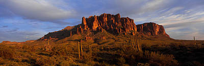Superstition Mountains Photograph - Mountain On A Landscape, Superstition by Panoramic Images