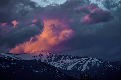 Photograph - Mountain On Fire by Albert Seger