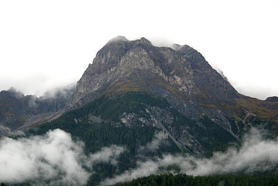 Photograph - Mountain Over Clouds by Emanuel Tanjala