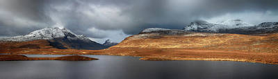 Photograph - Mountain Pano From Knockan Crag by Grant Glendinning