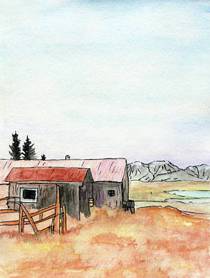 Mixed Media - Mountain Park Ranch by R Kyllo
