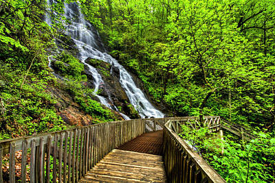 Photograph - Mountain Pass At The Waterfall by Debra and Dave Vanderlaan